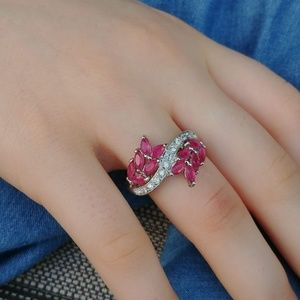 Jewelry - Marquis Ruby & Sterling Ring